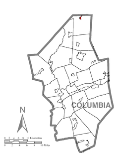 Map of Jamison City, Columbia County, Pennsylvania Highlighted.png