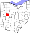 State map highlighting Logan County