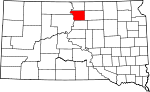 State map highlighting Walworth County