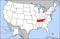 Map of USA highlighting Tennessee.png