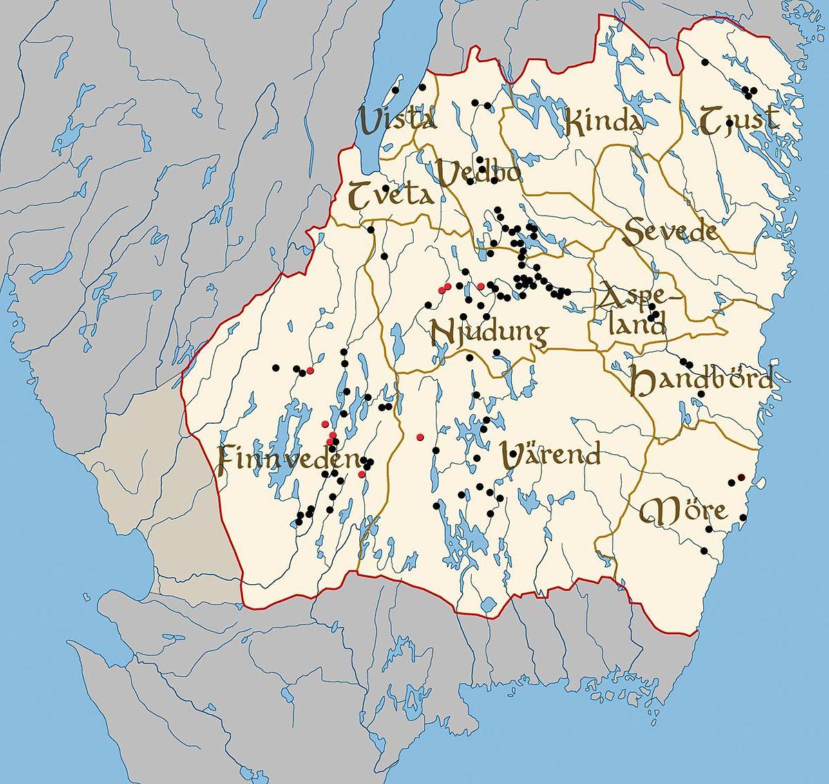 Möre Wikipedia - Sweden map hedestad