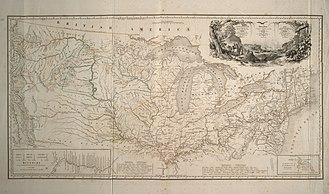 Karl Bodmer - Map of his 1832–1834 North American travels