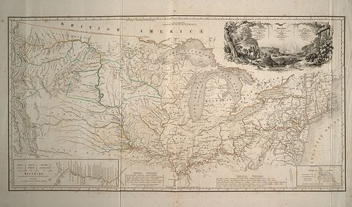 Route of Prince Maximilian of Wied in the interior of North America 1832-1834
