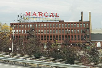 Elmwood Park, New Jersey - Marcal paper factory in Elmwood Park in 2014, destroyed by fire in 2019