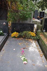 Maria Ossowska, Stanisław Ossowski (grób).JPG