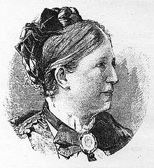 Marie Lipsius auf einem Stich vor 1893 (Quelle: Wikimedia)