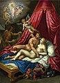 Mars and Venus surprised by Vulcan, Cupid and Apollo - Hendrik de Clerck.jpg