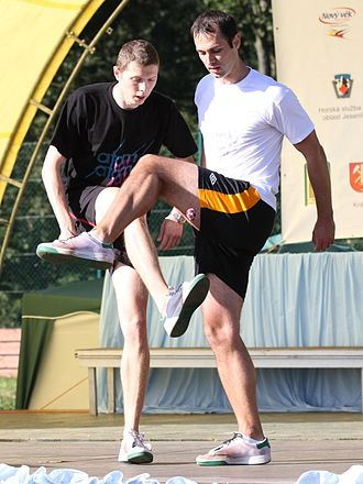 Hacky sack - The most successful footbag doubles team, multiple world champions and innovators Martin Sladek and Tomas Tucek