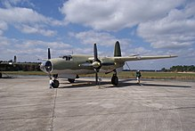 The last remaining airworthy B-26 Marauder.
