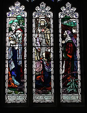 Isobel Lilian Gloag - Stained-glass design at St Mary's Church, Sturminster Newton
