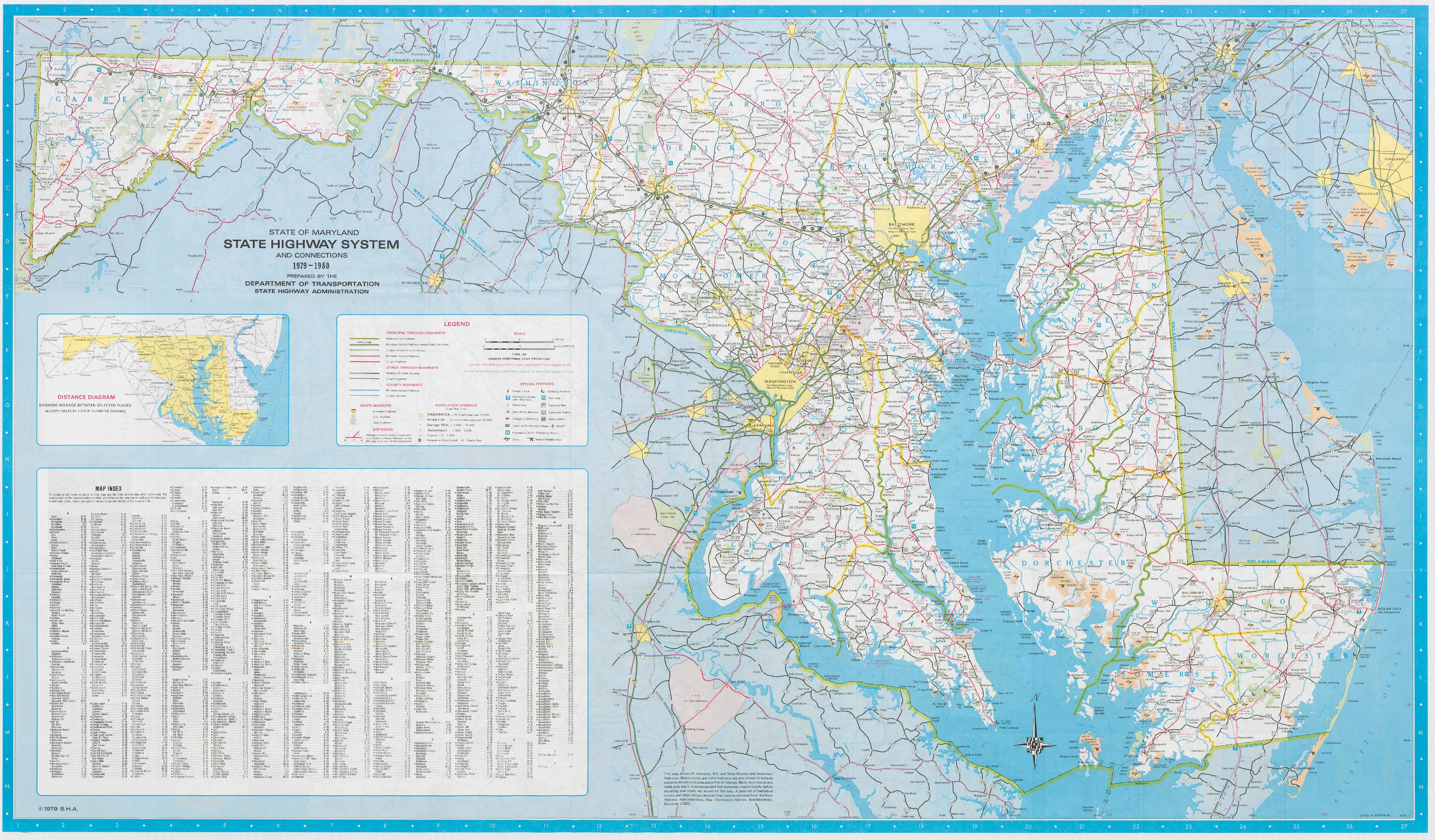 FileMaryland State Highway Map Pdf Wikimedia Commons - Maryland road map