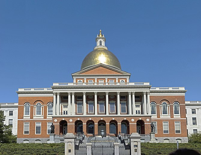 The Massachusetts State-house in Boston, Massa...