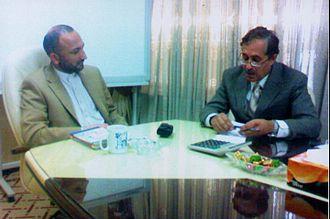 Massoud Nawabi - Massoud Nawabi and Afghanistan's former Minister of Education, Mohammad Hanif Atmar, 2009