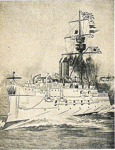 The French-built Matsushima, flagship of the Imperial Japanese Navy during the Sino-Japanese conflict Matsushima(Bertin).jpg