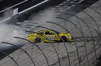 Food City 500 - Matt Kenseth celebrates after winning the 2015 race.