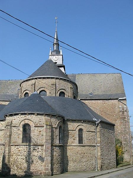 L'église Saint-Martin de Mayenne, de l'arrière