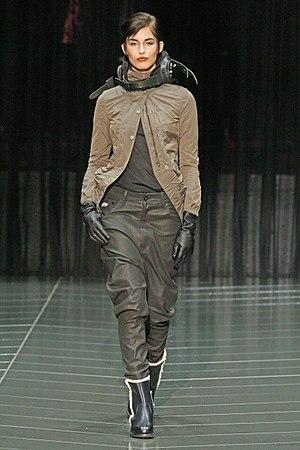 English: , American fashion model, in G-Star Raw