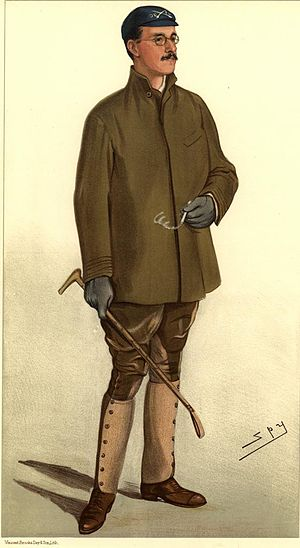 The Boat Race 1883 - Caricature of Douglas McLean who rowed at number five for Oxford