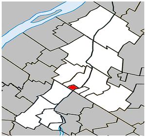 McMasterville, Quebec - Image: Mc Masterville Quebec location diagram