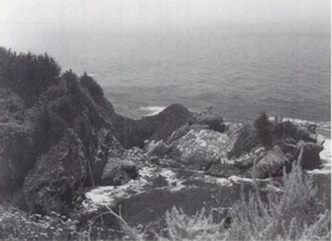 McWay Falls - McWay Falls on July 10, 1963, falling directly into the ocean, before mudslides and construction debris caused a beach to form.