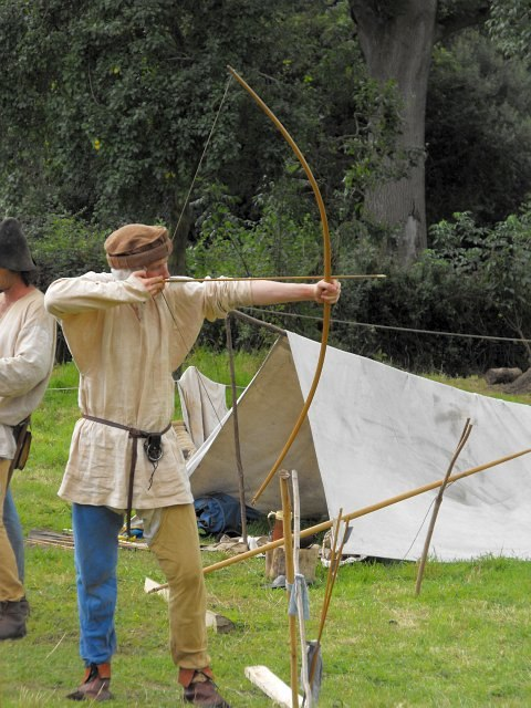 Mediaeval archery reenactment