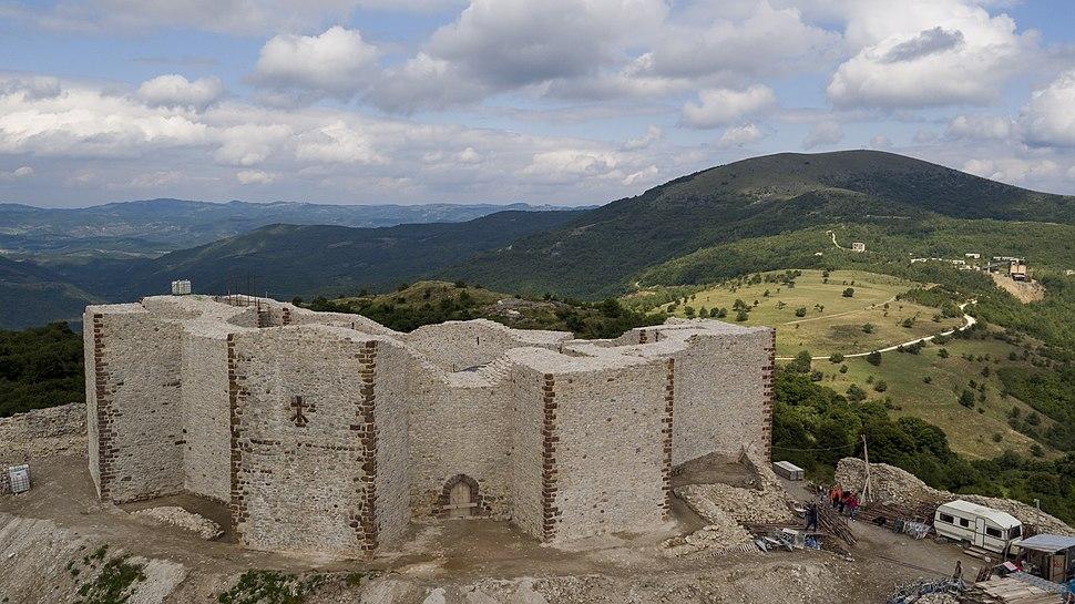 Medieval Novo Brdo Fortress after reconstruction