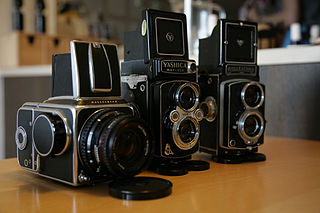 Medium format Photographic cameras with an aspect ratio in the range of about four to ten centimeters edge length
