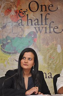 Meghna Pant at the Mumbai book launch of her novel ' One & A Half Wife '