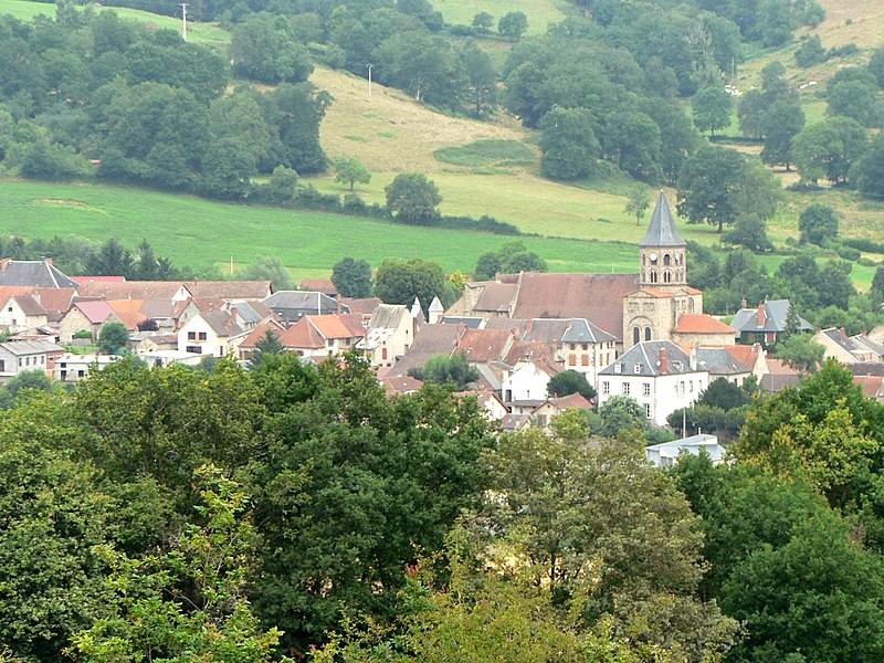 Village de Menat (Puy-de-Dôme, France).