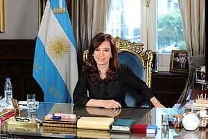 Presidency of Cristina Fernández de Kirchner - Image: Mensaje de fin de año de la Presidenta