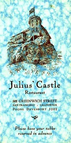 Julius' Castle - Image: Menu, Julius' Castle, San Francisco (12002040776)