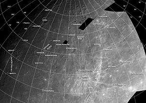 Shakespeare quadrangle - Mariner 10 photomosaic