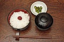 Composizione tipica di un coperto giapponese