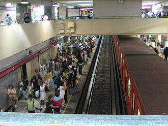 Metro Chapultepec - Track view inside the Chapultepec station