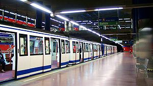 Metro Madrid Mar de Cristal station