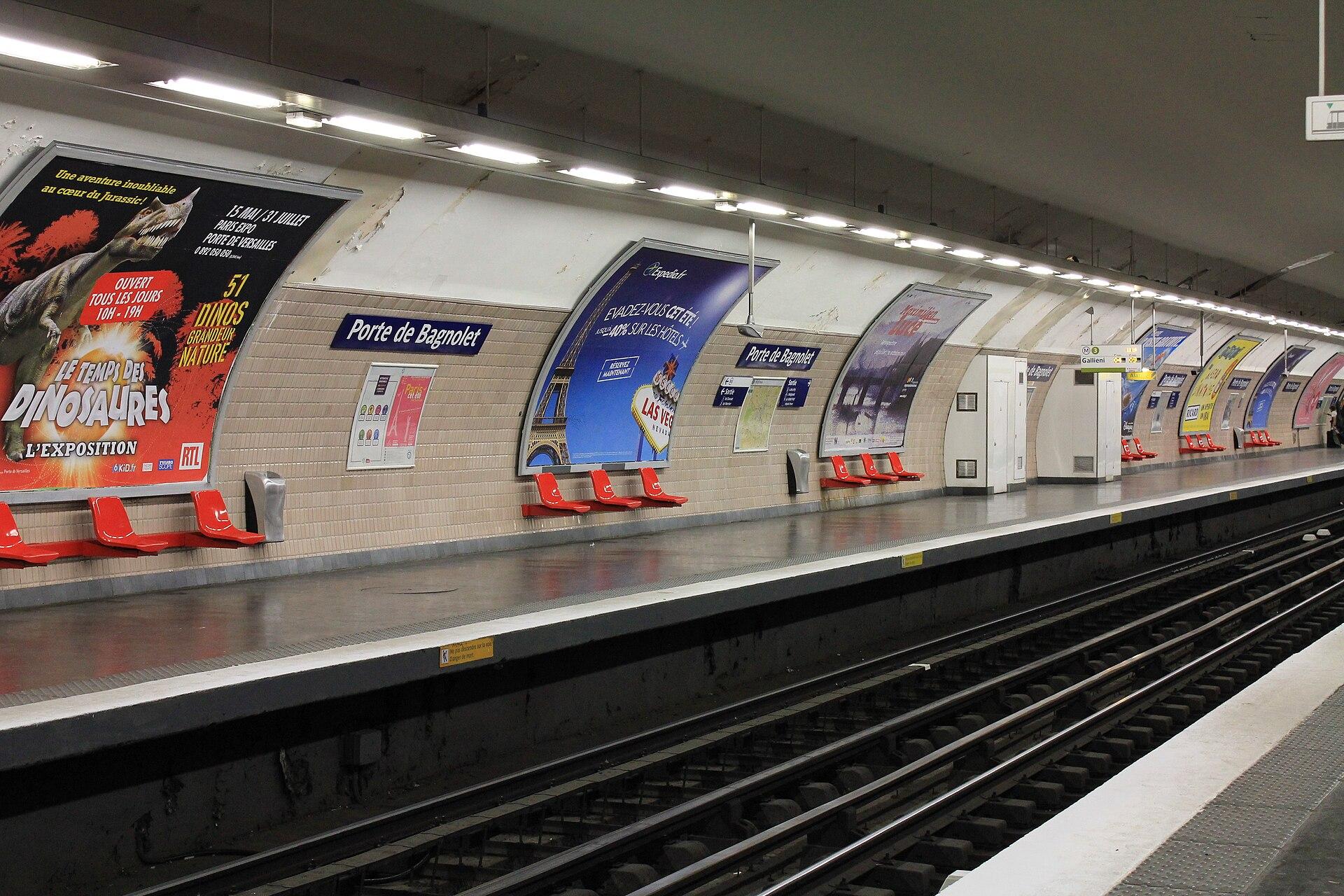 porte de bagnolet metropolitana di parigi