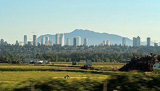 Town centre of Burnaby in British Columbia, Canada