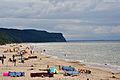 Międzyzdroje, am Strand, f (2011-07-25) by Klugschnacker in Wikipedia.jpg