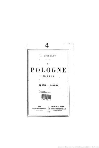 File:Michelet - La Pologne martyr, Dentu, 1863.djvu