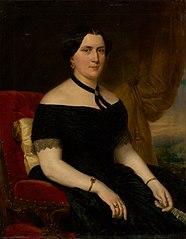 Portrait of a Woman in a Velvet Armchair