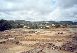Estoi - A view of the ruins of Milreu, with the landscape of the parish of Estoi
