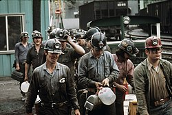 Miners at the Virginia-Pocahontas Coal Company Mine #4 near Richlands, 1974