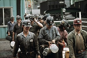 Richlands, Virginia - Image: Miners at the Virginia Pocahontas Coal Company Mine