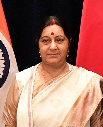 Sushma Swaraj - Swaraj in 2017