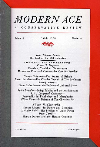 Timeline of modern American conservatism - Cover of Modern Age