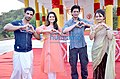 Mohammad Nazim and Devoleena Bhattacharjee during the promotion event of Dilwale.jpg