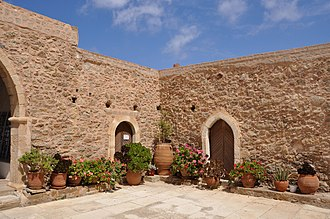 Toplou Monastery - One of the inner courts