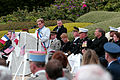Monique Benier, at lectern, the mayor of Belleau, France, addresses U.S. Marines, French service members and guests during a Memorial Day ceremony May 26, 2013, at the Aisne-Marne American Cemetery and Memorial 130526-M-XI134-005.jpg