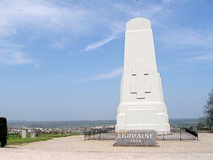Battle of the Trouée de Charmes - Image: Monument de Lorraine 001