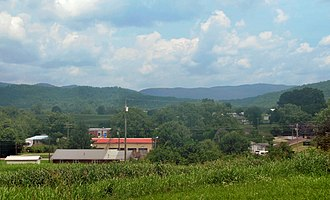 Mooresburg, Tennessee - Image: Mooresburg from hwy 11 tn 1